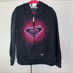 Girl's Roxy Graphic Logo Hoodie Sweatshirt